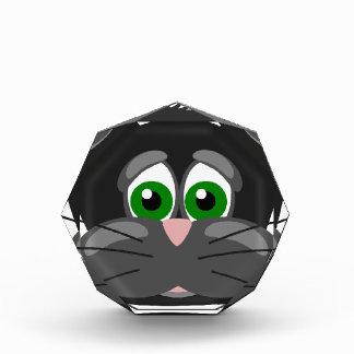 Grün-mit Augen schwarze Katze Auszeichnung