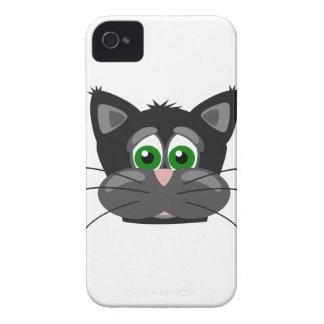 Grün-mit Augen schwarze Katze Case-Mate iPhone 4 Hülle