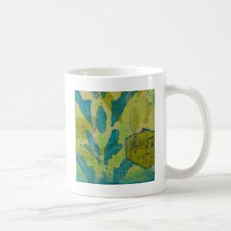 Grün mit blauen gemischten Medien Tasse
