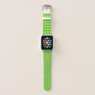 Grün mit den gelben und blauen Punkten Apple Watch Armband
