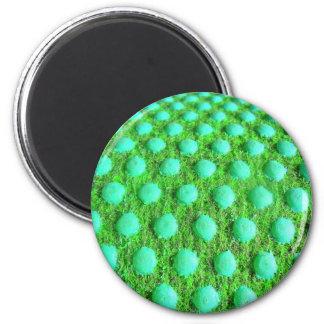 grün MIT grünen Punkten Runder Magnet 5,1 Cm