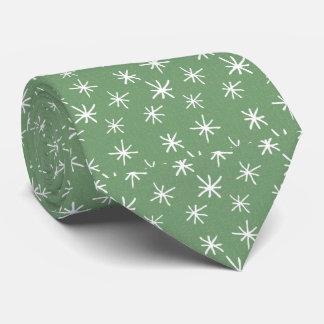 Grün mit Retro Sternchen-Vereinbarung Bedruckte Krawatten