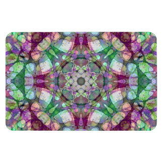 Grün, Moosbeere und lila Mandala-Kaleidoskop Magnet
