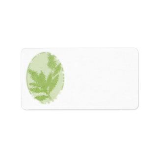 Grün, Natur-themenorientierte Adressen-Etiketten Adressaufkleber