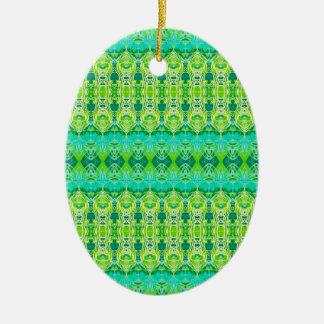 Grün Ovales Keramik Ornament