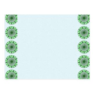 Grün: Rad der Bewegung zur Erhaltung Postkarte