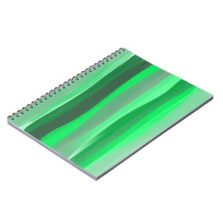 Grün schattiert Notizbuch Spiral Notizblock