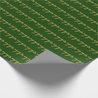 Grün, (Siebzig-7.) Ereignis des Imitat-Gold77. Geschenkpapier