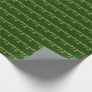 Grün, (Siebzig-Zweites) Ereignis des Geschenkpapier