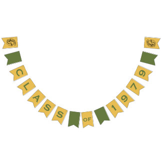 Grün u. Goldkunst-Deko-Trojan Wimpelketten