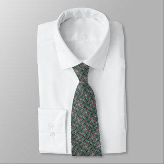 Grün u. Moosbeerpinwheel-Fraktal Individuelle Krawatten