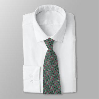 Grün u. Moosbeerpinwheel-Fraktal Krawatte