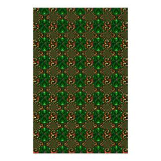 Grün und abstrakte Muster-Kunst Browns Digital Bedrucktes Büropapier