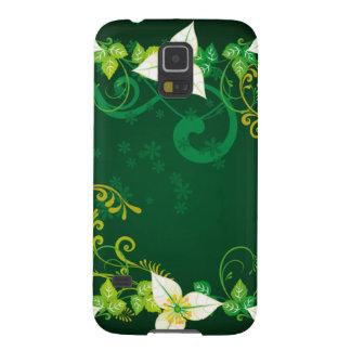 Grün und Blumen Galaxy S5 Hülle