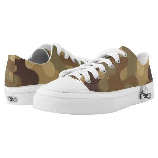 Grün und Brown-Tarnung. Ihre Camouflage Niedrig-geschnittene Sneaker