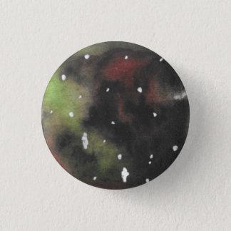 Grün und dunkelroter gewirbelter Galaxie Pinback Runder Button 3,2 Cm