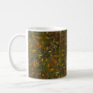 Grün und Gold Kaffeetasse