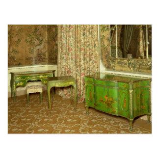Grün und Gold lackieren Möbel im Staat Postkarte