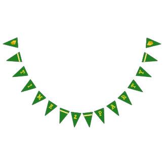 Grün und Goldzeit zur Party-Fahne Wimpelketten