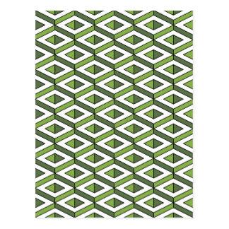 Grün und Kohl der Geometrie 3d Postkarte