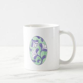 Grün-und Lavendel-Swooping Kaffeetasse
