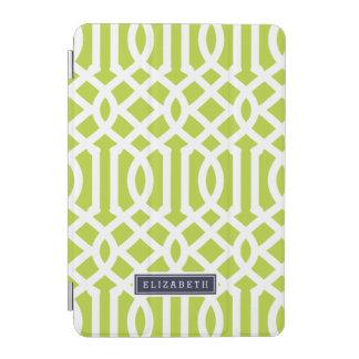 Grün und Marine-Gitter-Gewohnheits-Monogramm iPad Mini Hülle
