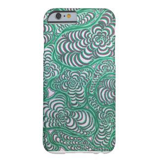 Grün-und Rosa-gewundener Amöben-Telefon-Kasten Barely There iPhone 6 Hülle