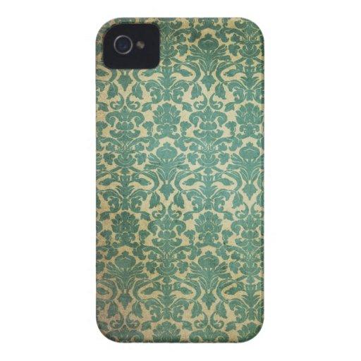 Grün und weg vom weißen Vintagen Druck-BlackBerry iPhone 4 Etuis