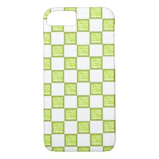 Grün und Weiß überprüfte iPhone Gehäuse/Haut iPhone 8/7 Hülle