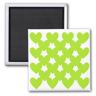 Grün verbundene Herzen Magnete