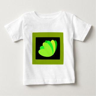 Grün wachsen Herz Baby T-shirt