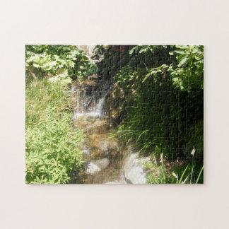 Grün-Wasserfall-Puzzlespiel #2 Puzzle