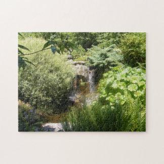 Grün-Wasserfall-Puzzlespiel Puzzle
