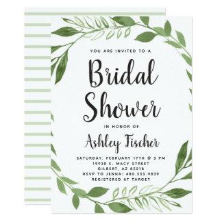 Grün winden Brautparty-Einladung Karte
