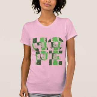 Grün-zierliches T-Stück die HOFFNUNG der Frauen T-Shirt