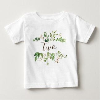 Grün zwei Jahre alte Baby Baby T-shirt