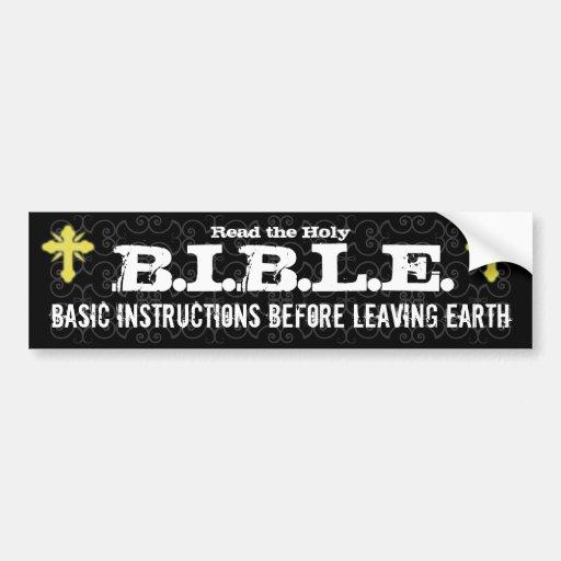 Grundlegende Anweisungen, bevor Erde christlich ve Auto Aufkleber