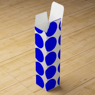 Grundlegende blaue Polka-Punkt-Wein-Geschenkboxen Wein-Geschenkverpackung