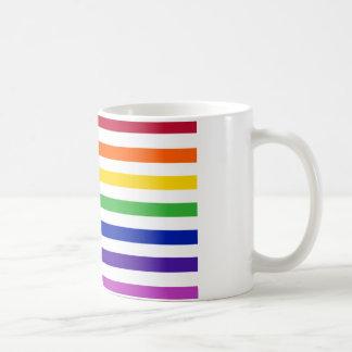 Grundlegende Homosexuelles US-Flaggen-Ernte Kaffeetasse