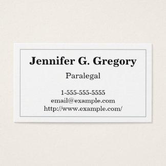 Grundlegende und traditionelle visitenkarte