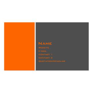 Grundlegende zwei Farborange Visitenkarten
