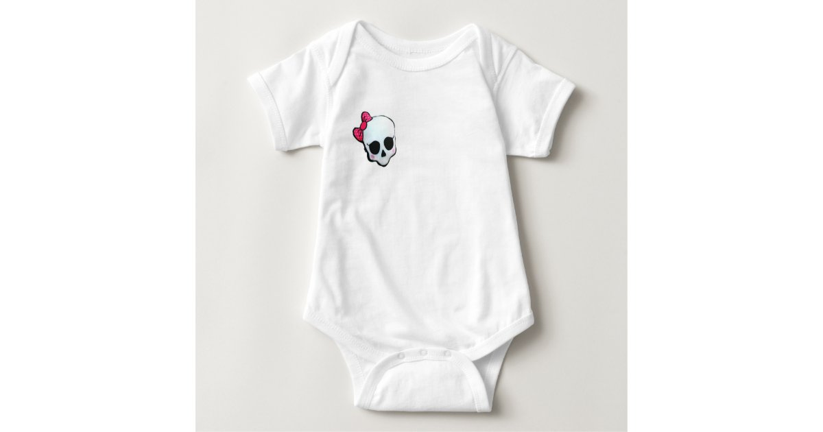 Grundlegender Body Totenkopf Baby Strampler | Zazzle