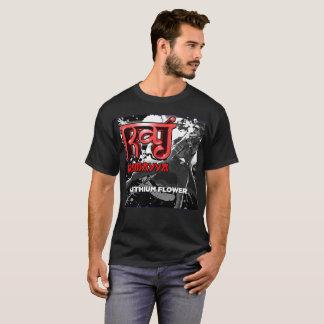 Grundlegender dunkler T - Shirt - Lithium-Blume -