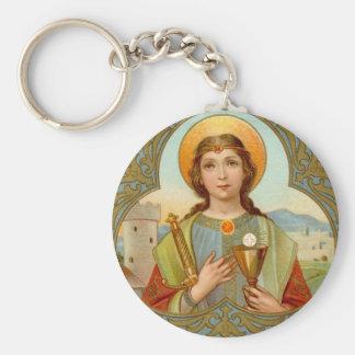 Grundlegender Knopf St. Barbara (BK 001) Schlüsselanhänger