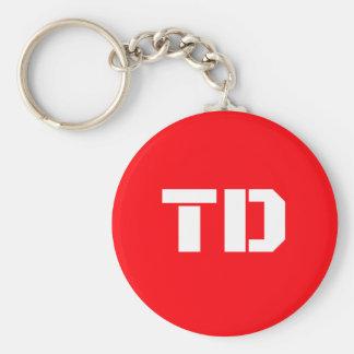 Grundlegender Logo Team-Daniels Knopf Keychain Schlüsselanhänger
