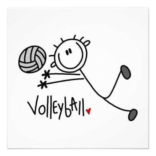 Grundlegender männlicher Strichmännchen-Volleyball Individuelle Ankündigungen