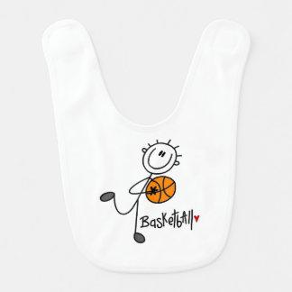 Grundlegender Strichmännchen-Basketball-Spieler Lätzchen
