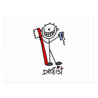 Grundlegender Strichmännchen-Zahnarzt Postkarte