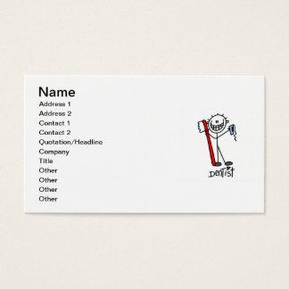 Grundlegender Strichmännchen-Zahnarzt Visitenkarte