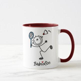 Grundlegendes männliches Strichmännchen-Badminton Tasse